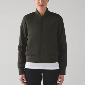 NWT Non-Stop Bomber reversible jacket in olive